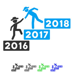 2017 business training stairs flat icon vector