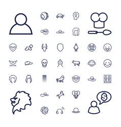 37 head icons vector