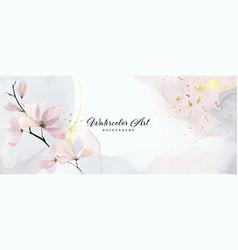 Abstract background watercolor gentle flower vector