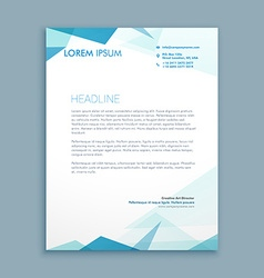 Abstract style letterhead vector