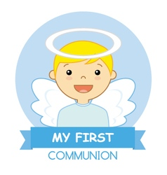 Angel Boy vector image