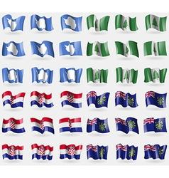 Antarctica Norfolk Island Croatia Pitcairn Islands vector