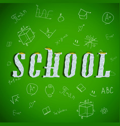 Back to school green background vector