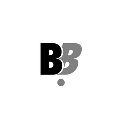 Bb b b black white grey alphabet letter logo icon vector