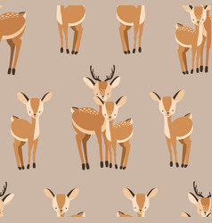 Beautiful seamless pattern with adult and baby vector