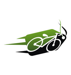 bikes shop logo design template vector image