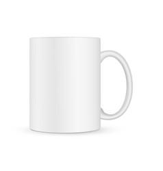 Blank mug mockup isolated on white background vector