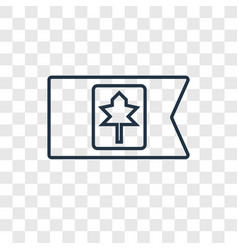 canada concept linear icon isolated on vector image