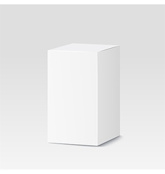 Cardboard box on white background White container vector