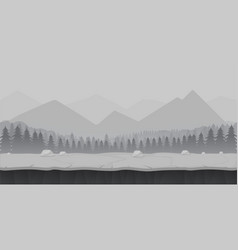 Cartoon forest game background landscape vector
