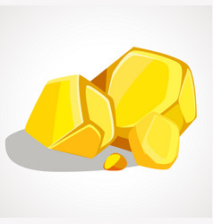 cartoon gold stacked pile vector image