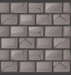 Cartoon grey stone wall texture vector