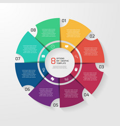 Circle infographic 8 options vector