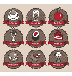 collection food vector image vector image