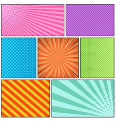 Comic page bright background vector