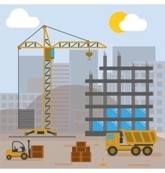 Construction Site Building House vector