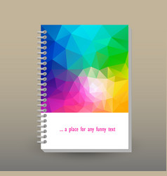 cover of diary or notebook rainbow spectrum vector image