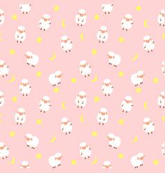 Cute little sheep seamless pattern background vector