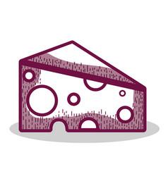delicious cheese food icon vector image