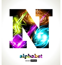 Design abstract letter n vector