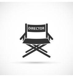 Directors chair icon vector image