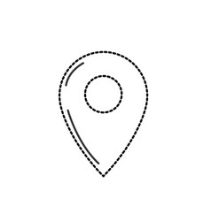Dotted shape symbol ubication to explore map vector