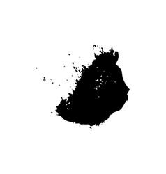 ebony ink blob black paint spilled drop cover vector image