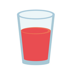 Fruit juice in glass cup icon image vector