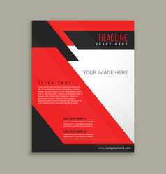 Ftylish business flyer brochure template vector