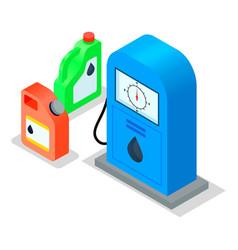 gasoline pump retro design fuel container vector image
