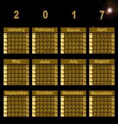 Gorgeous demo 2017 calendar template vector