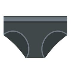 Gray underwear panties icon isolated vector