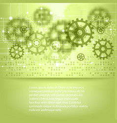 green abstract future technology background vector image