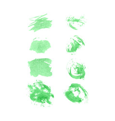 Green watercolor set vector