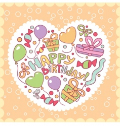 happy birthday card illustration vector image