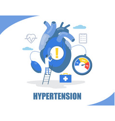 Hypertension concept flat style design vector