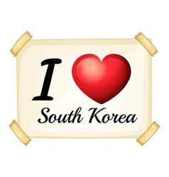 I love South Korea vector