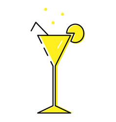 Icon martini linear cocktail vector