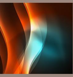 Illuminated neon waves vector