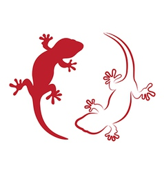 image an gecko vector image