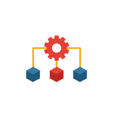 Infrastructure icon simple flat element from vector