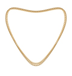 Jewelry golden chain of heart shape vector