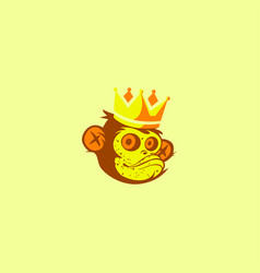 king monkey mascot logo vector image