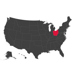 Map of usa - ohio vector