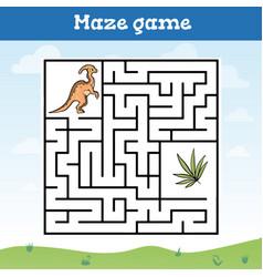 maze game for children toddler worksheet vector image