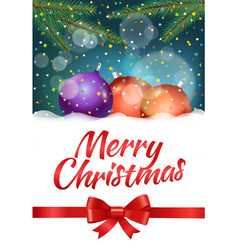 merry christmas and happy new year composition vector image