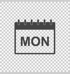 monday calendar page pictogram icon simple flat vector image