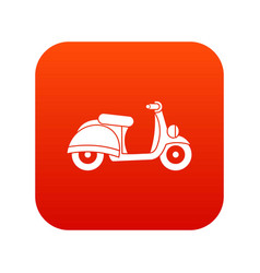 motorbike icon digital red vector image