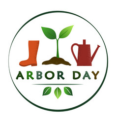 National arbor day - creative concept with sprout vector