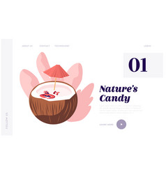 natural products website landing page woman in vector image